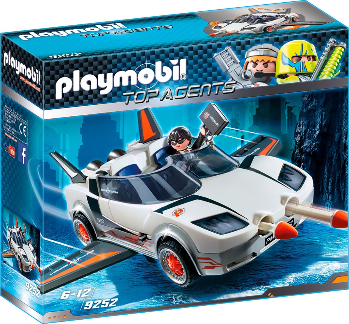 Playmobil Top Agent Veicolo Spia con Agente P 9252