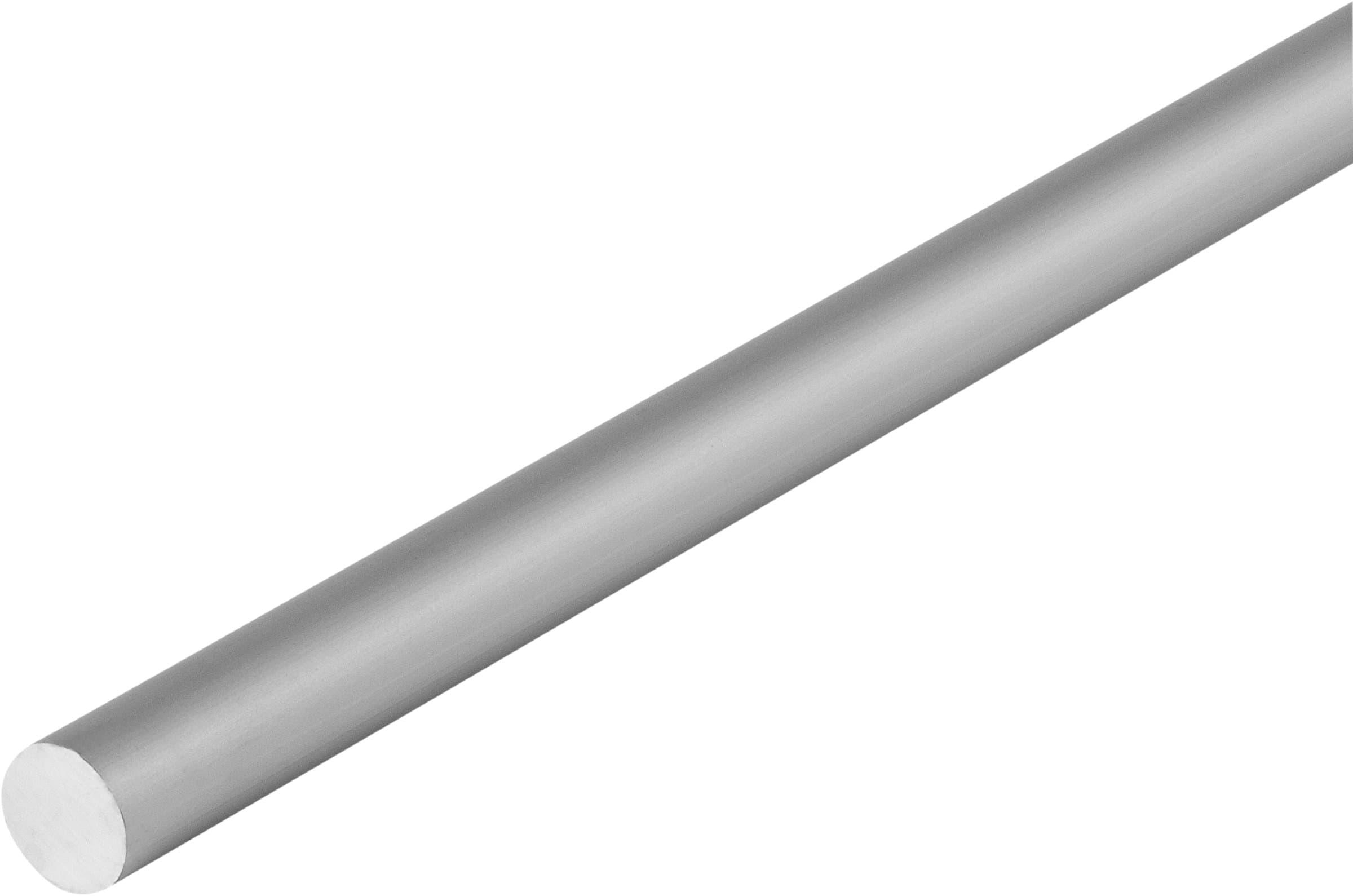 alfer Rundstange 12 mm silberfarben 1 m
