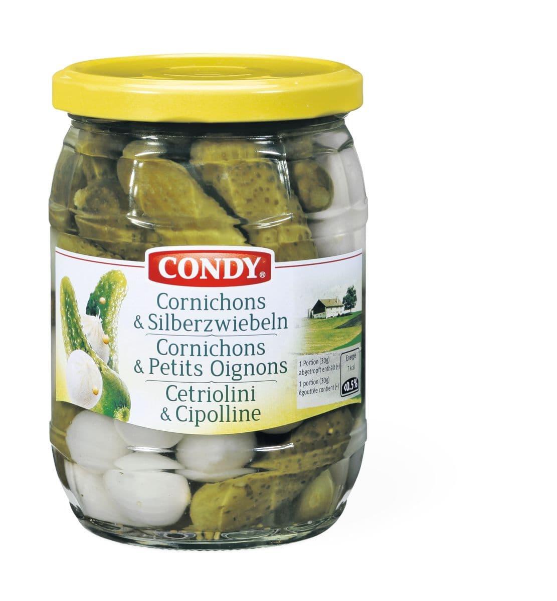 Condy Cornichons Silberzwiebeln