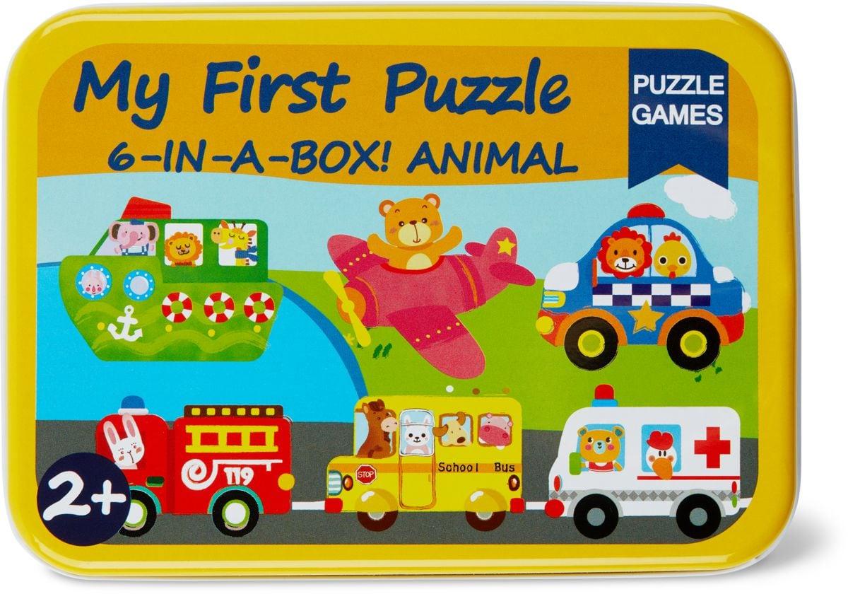 Woody Blechdosen Mit Holzpuzzle Verkehrw Puzzle