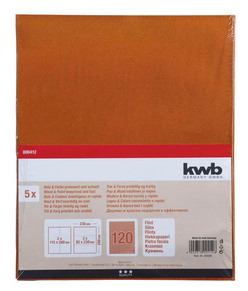 kwb Schleifbogen Flint K 120, 5 Stk.