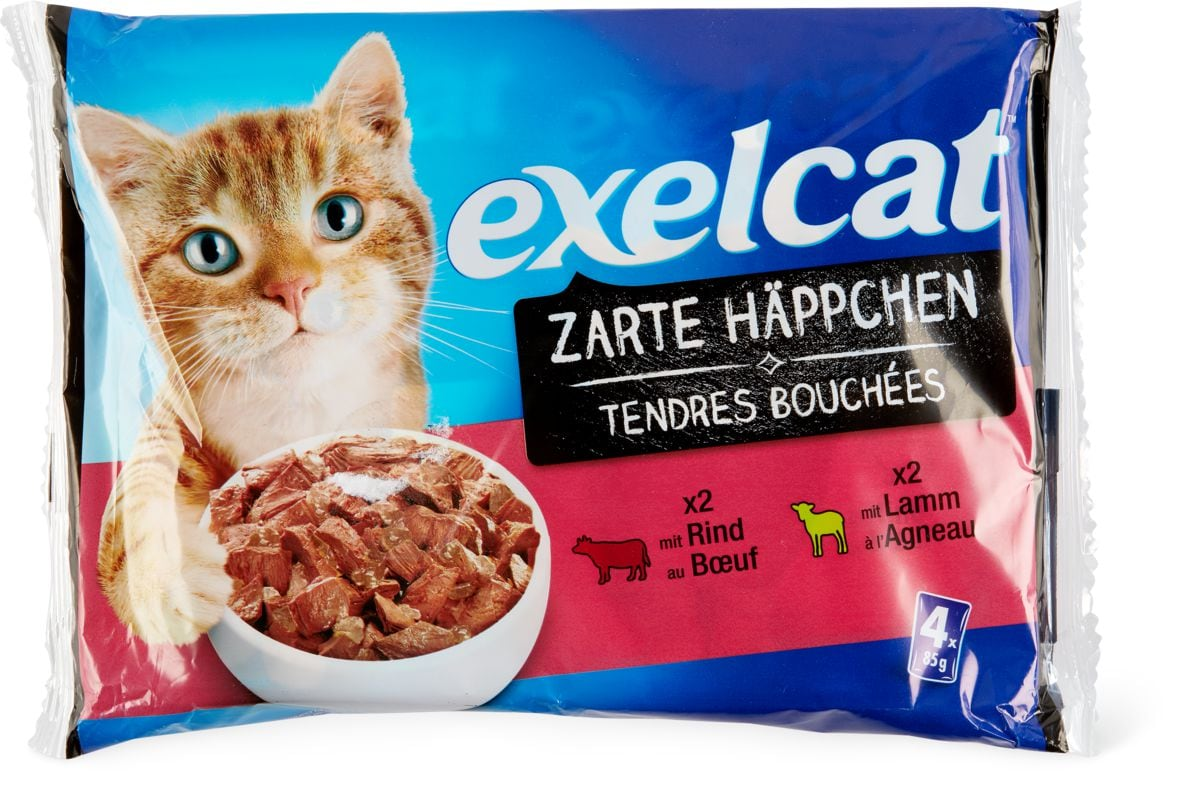 Exelcat Zarte Häppchen Fleisch