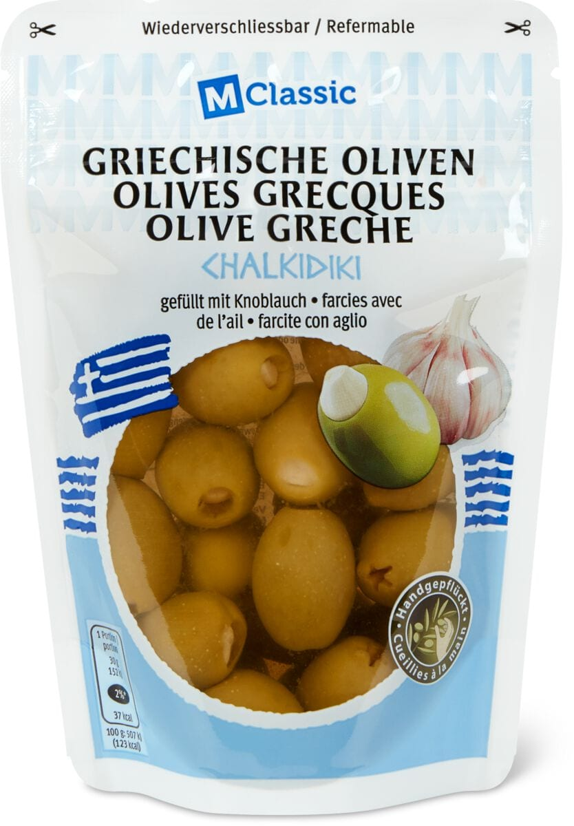 M-Classic griech. Oliven mit Knoblauch