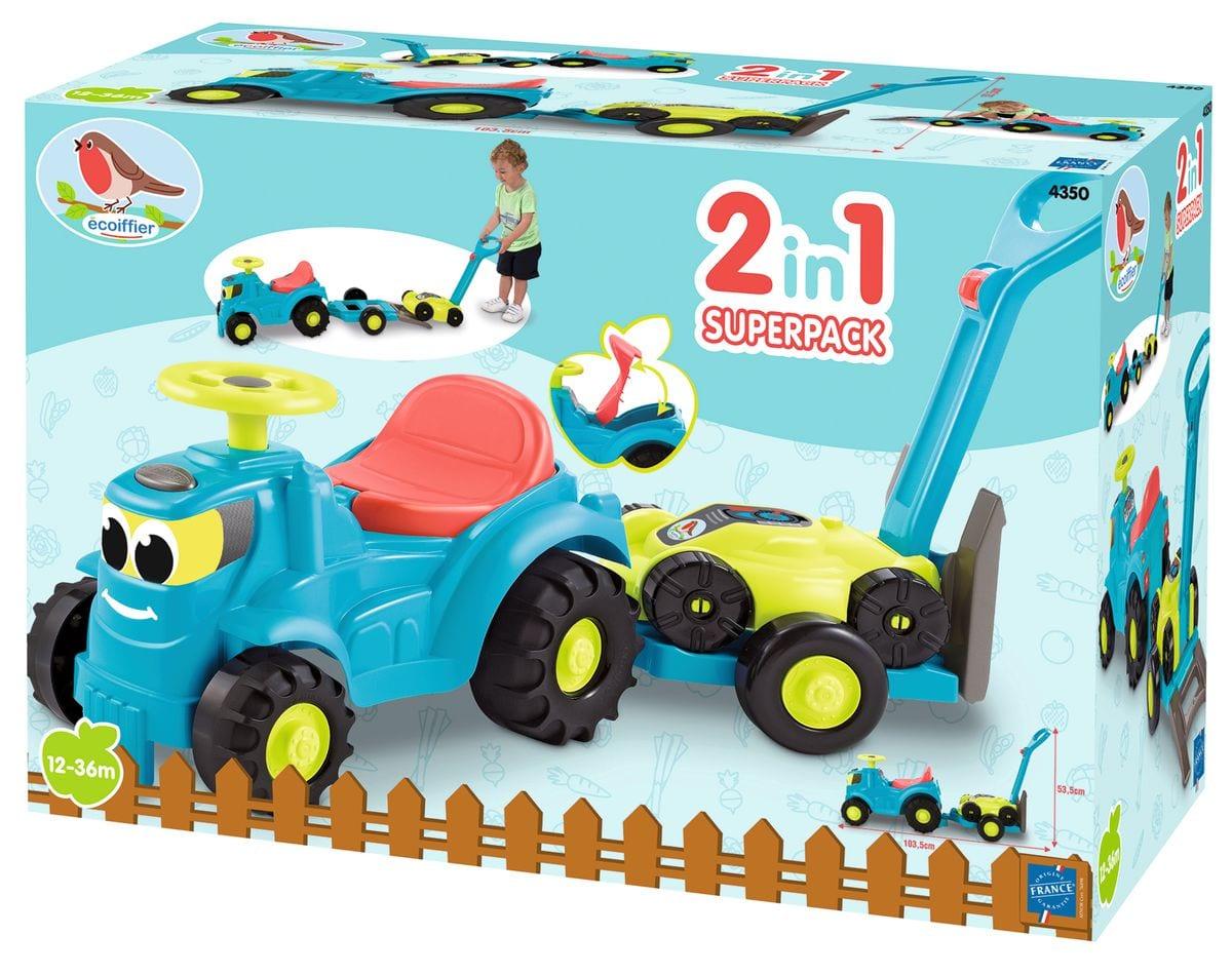 ecoiffier Sitz Traktor mit Anhänger Outdoor-Spielzeug