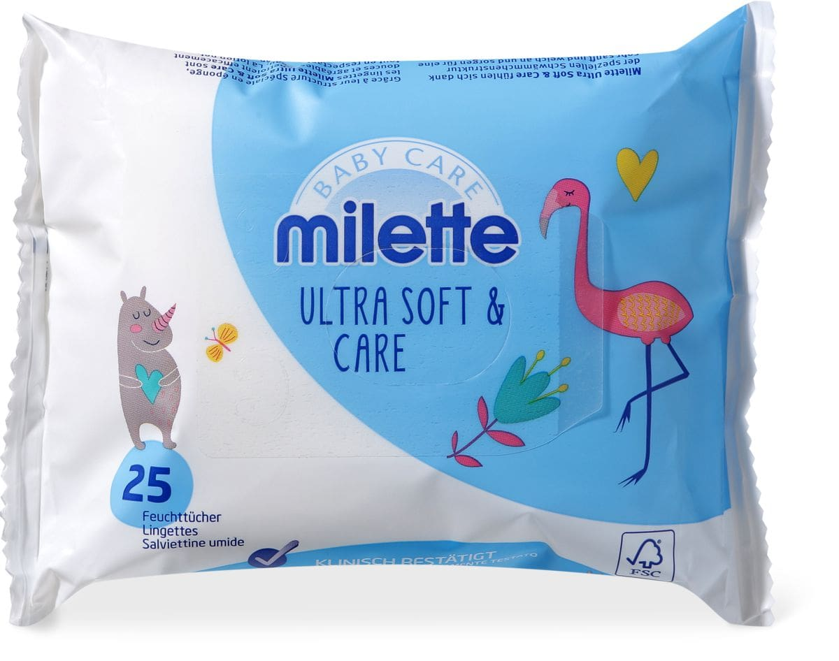 Milette Feuchttücher Ultra Soft & Care Reisepackung