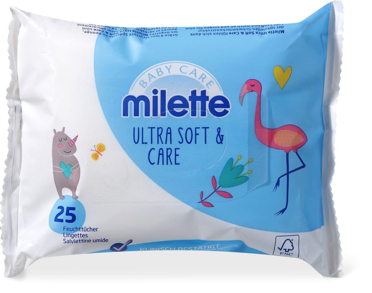 Milette Lingettes humides Ultra Soft & Care voyage