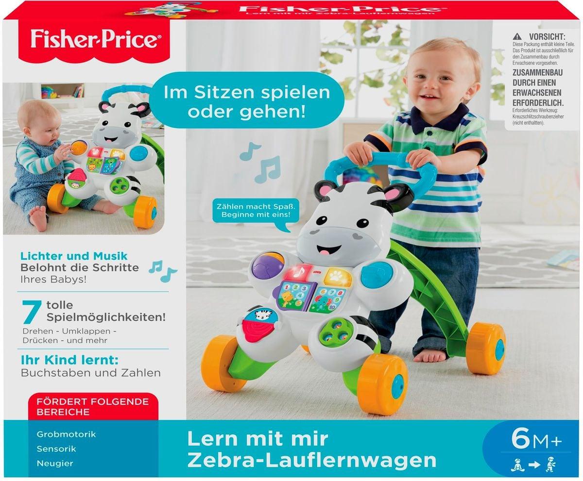 Fisher-Price Zebra Lauflernwagen (D) Lernspiel