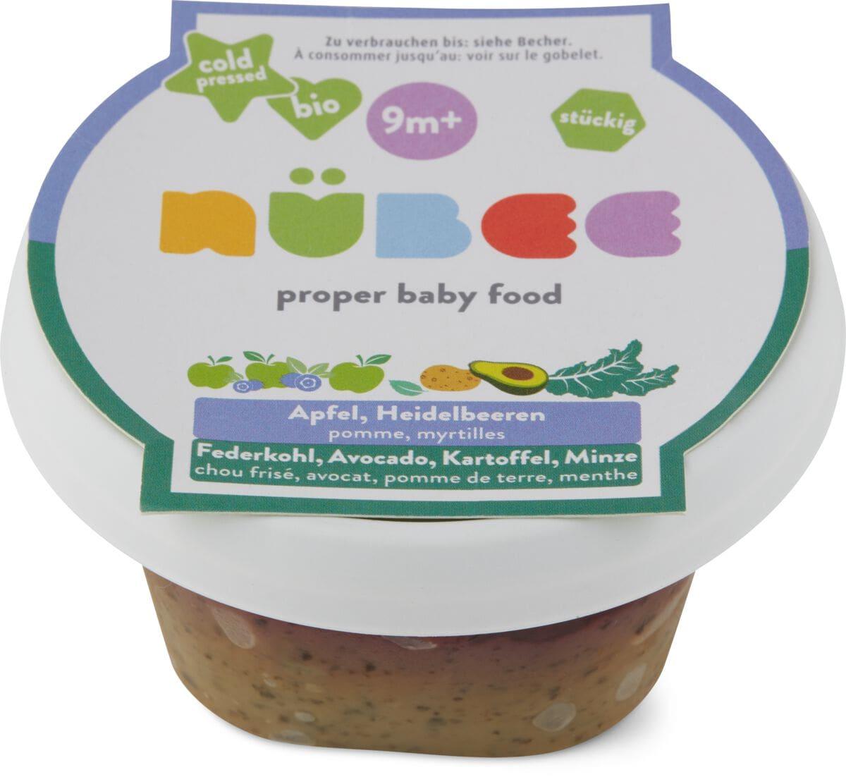 Nübee Apfel, Heidelbeeren, Federkohl, Avocado, Kartoffel, Minze