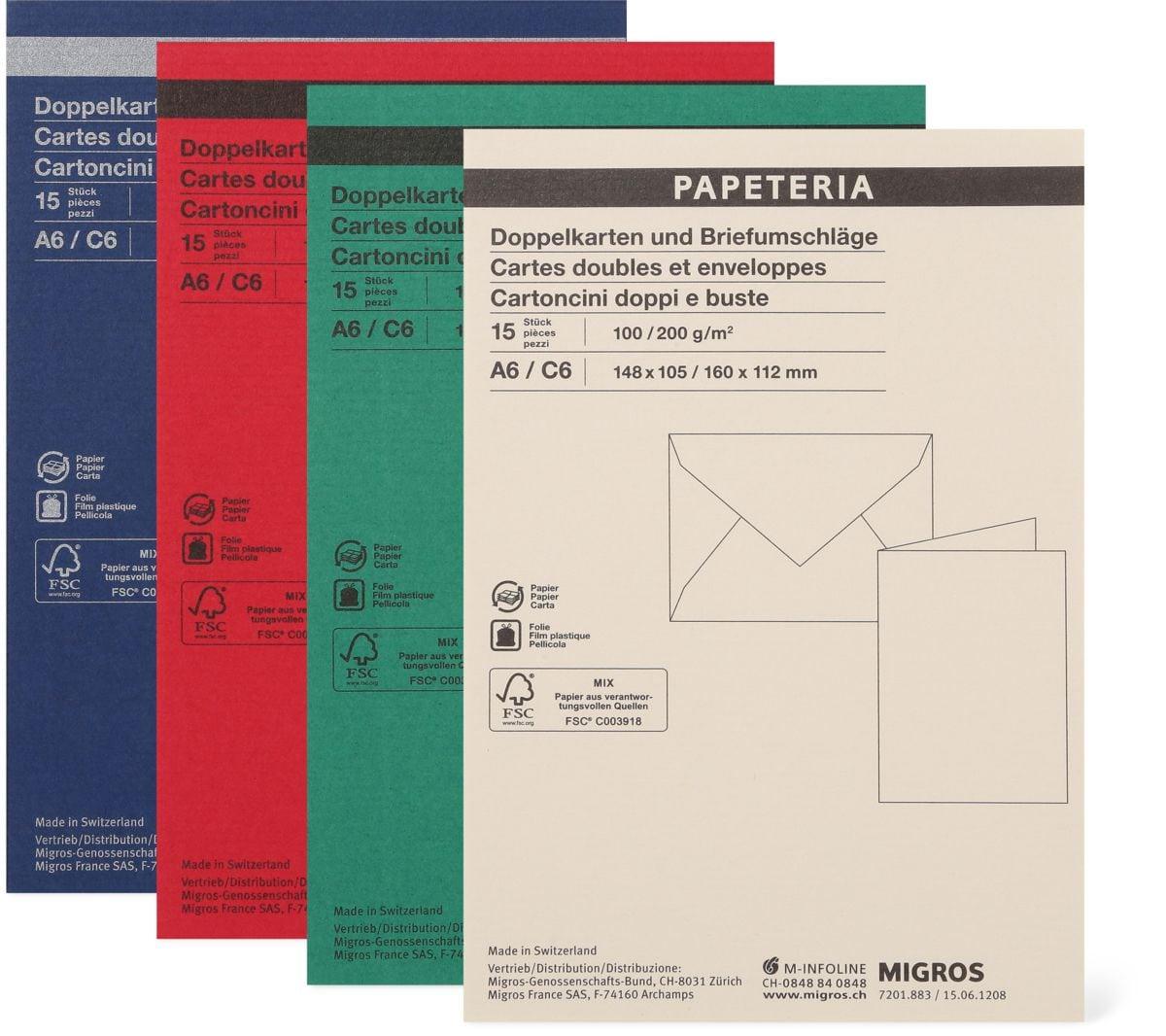FSC Doppelkarten und Briefumschläge A6