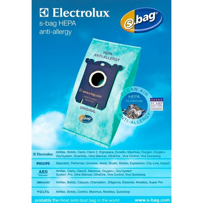 Electrolux s-bag E206B HEPA anti-allergy Staubsauger-Staubbeutel