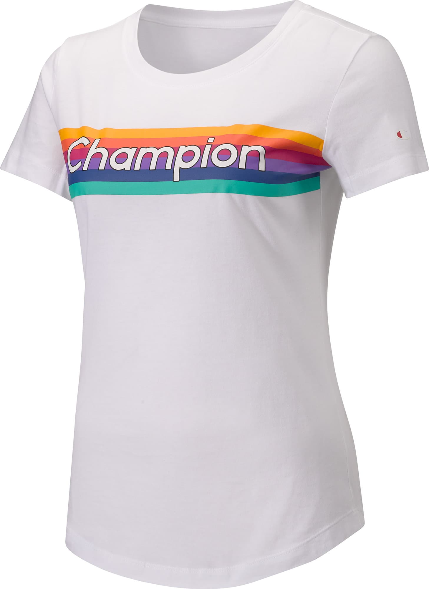 5c852438bbcd Champion Legacy Rainbow Women Crewneck T-Shirt Damen-T-Shirt | Migros