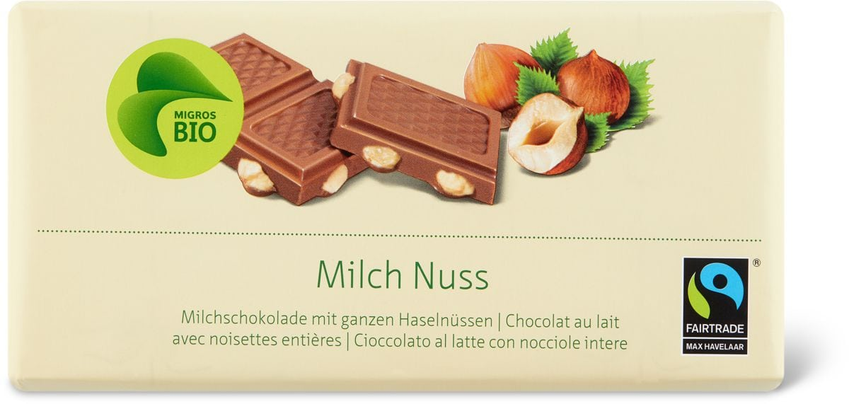 Bio Max Havelaar Milch Nuss
