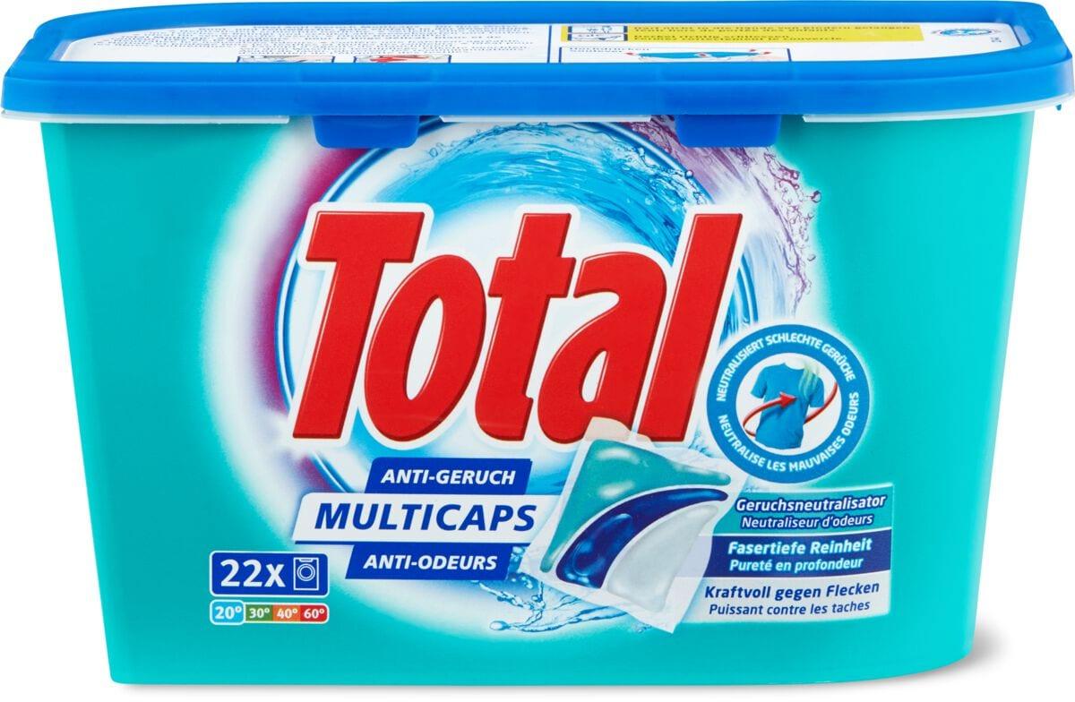 Total Produit de lessive anti-odeurs Multicaps en boîte