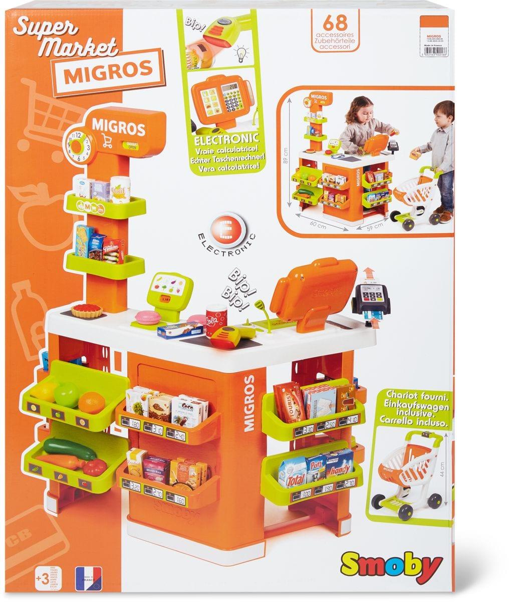 Smoby Migros-Supermarkt mit Wagen und Minis Rollenspiel