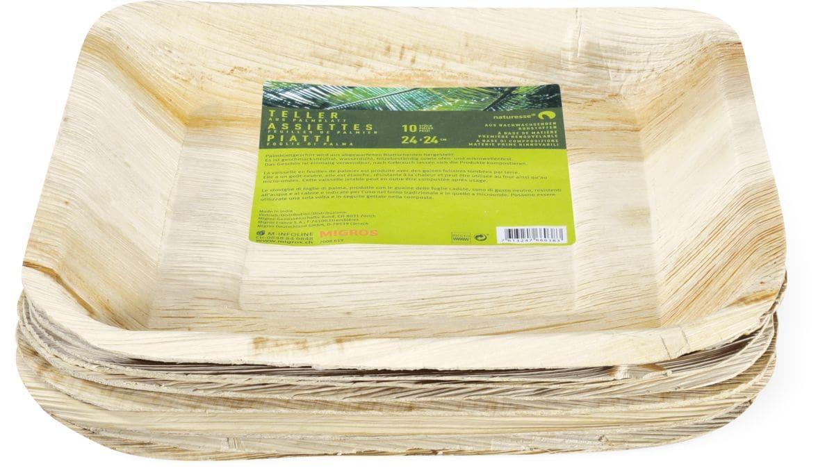 Palmblatt Teller 24cm x 24cm