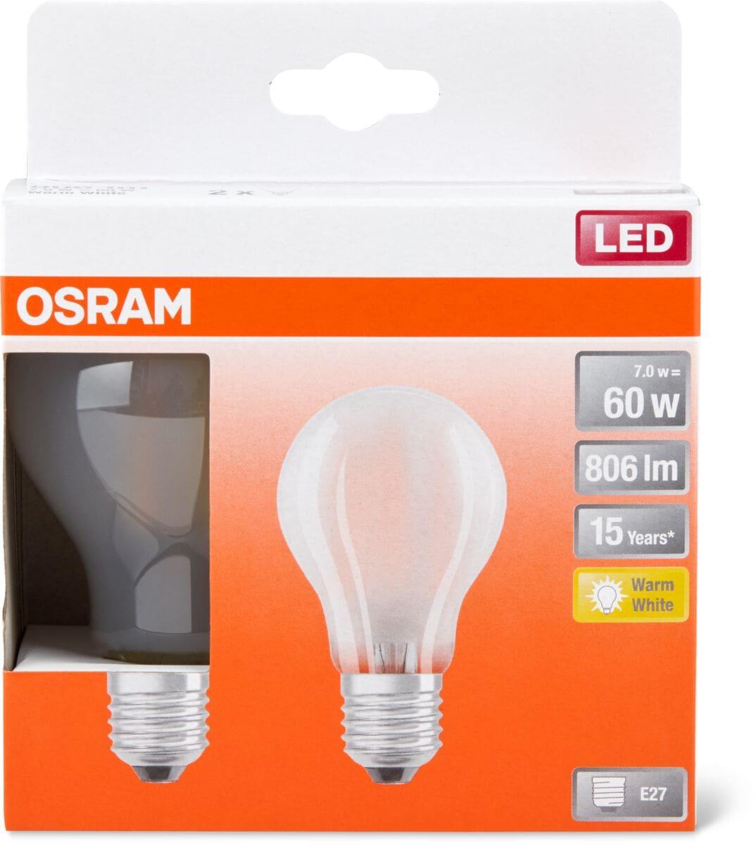 Osram LED BASE MATT CLAS A 60 E27