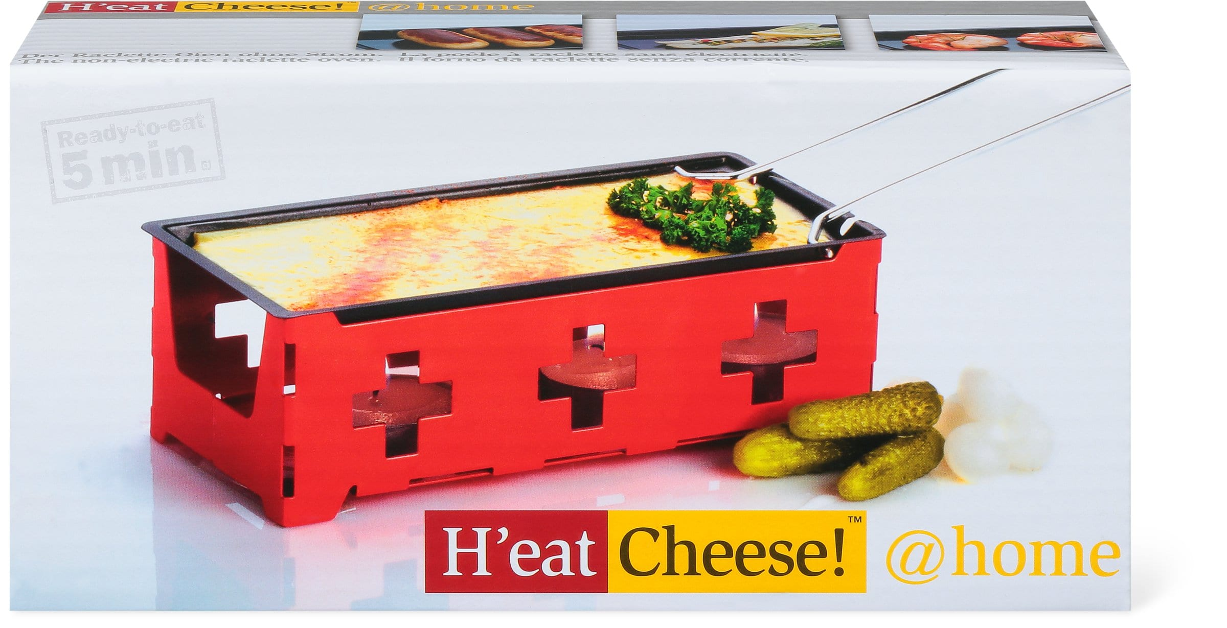 Cucina & Tavola H'EAT CHEESE! Raclette Ofen ohne Strom