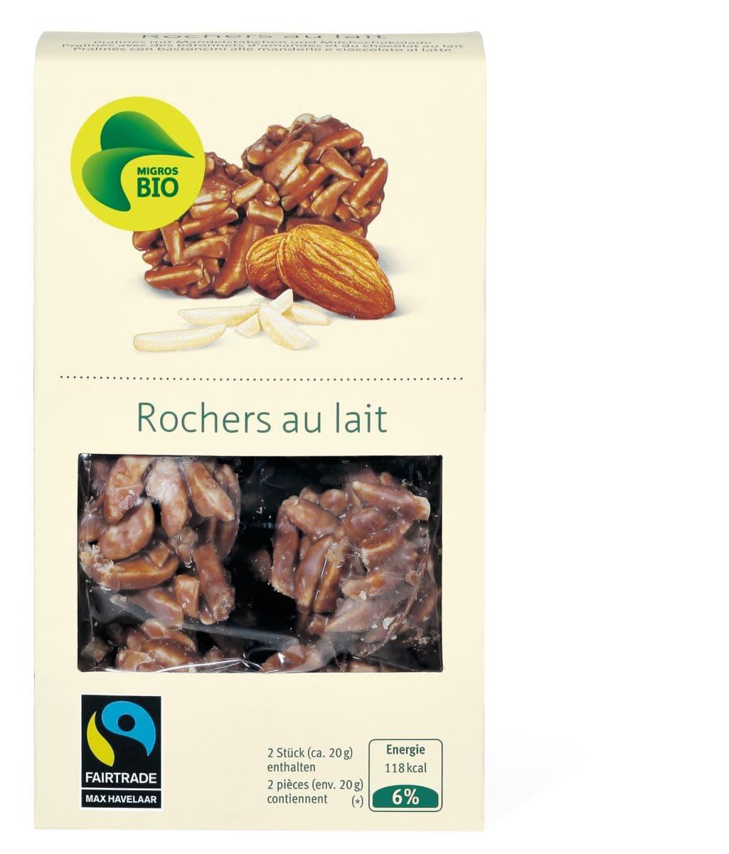 Bio Max Havelaar Rochers au lait