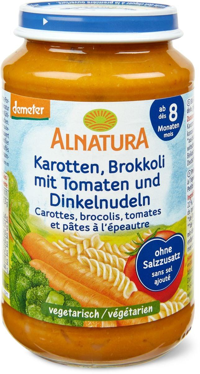 Alnatura Karotten Brokkoli mit Tomaten und Dinkelnudeln