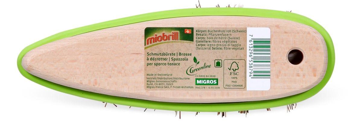 Miobrill Greenline Spazzola per sporco tenace FSC®