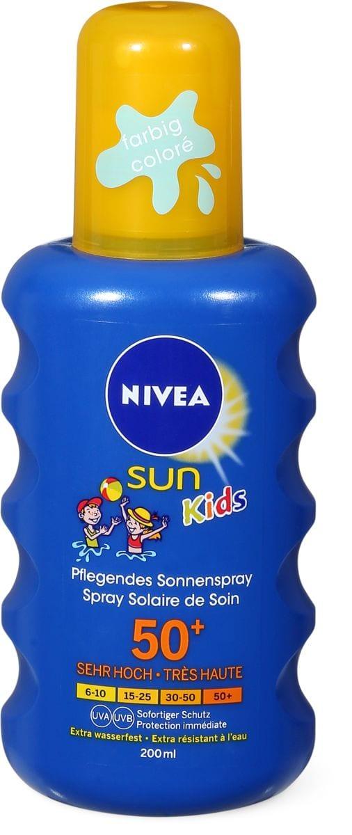 Nivea Sun FPS 50+ kids spray coloré