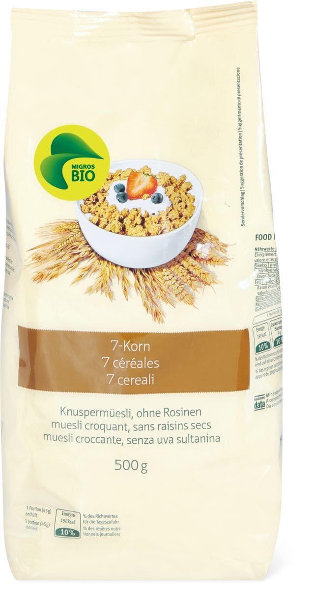 Bio müesli croquant 7 céréales