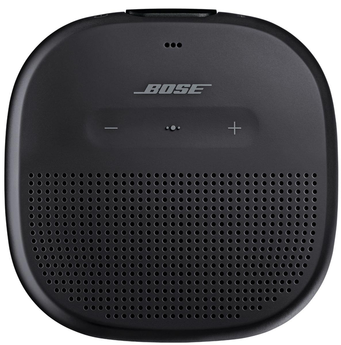 bose soundlink micro schwarz bluetooth lautsprecher migros. Black Bedroom Furniture Sets. Home Design Ideas