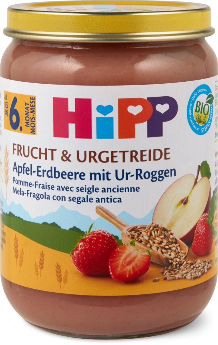 Hipp Apfel Erdbeere, Ur-Roggen
