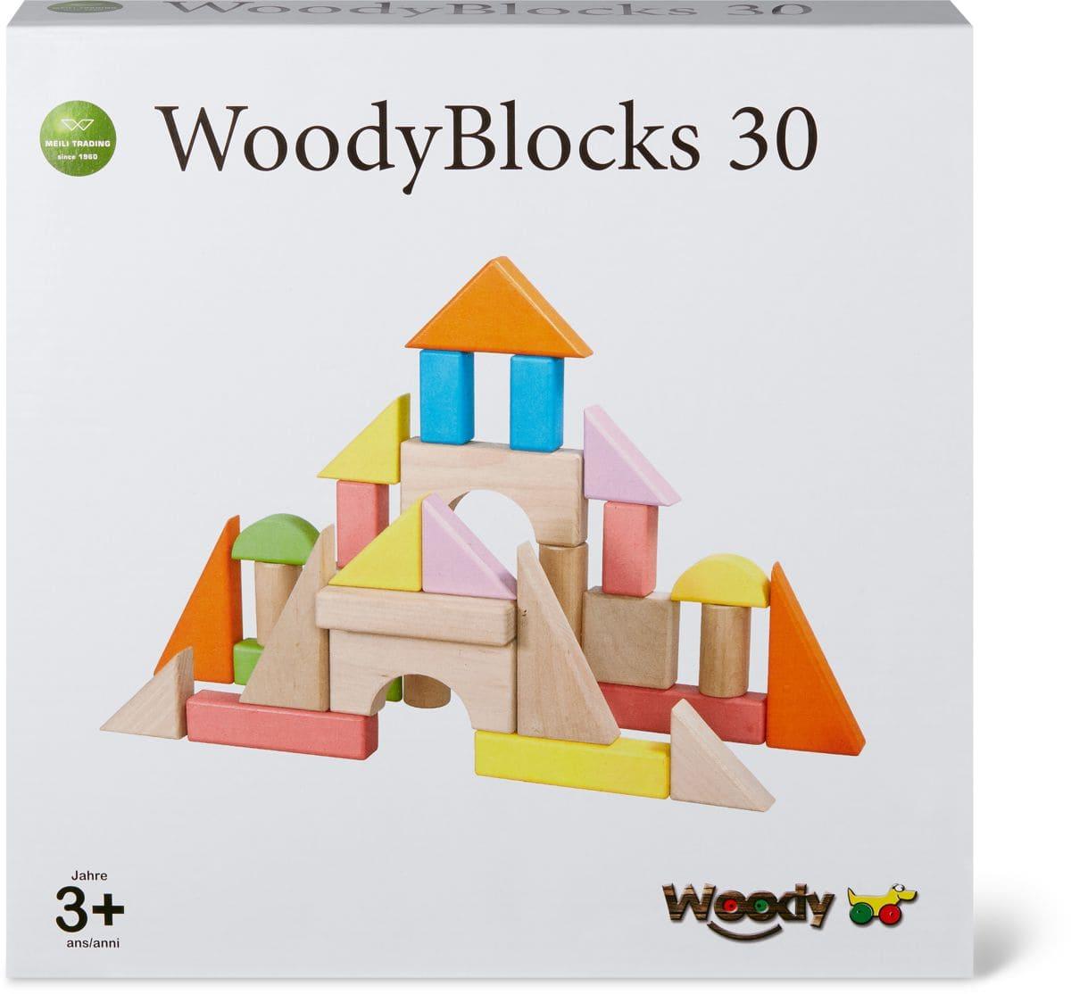 Woody Farbige Bauklötze 30Stk. (FSC) Spielset