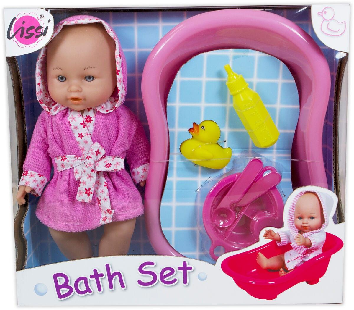 Lissi Dolls Baby mit Badewanne Puppenset