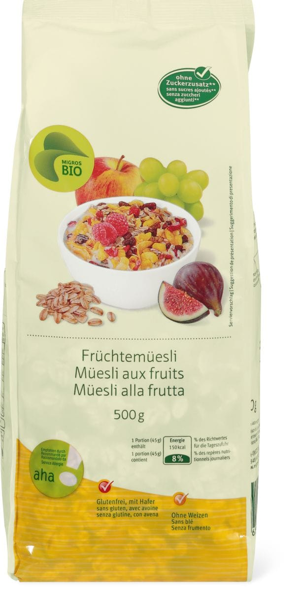 Bio aha! Müesli aux fruits