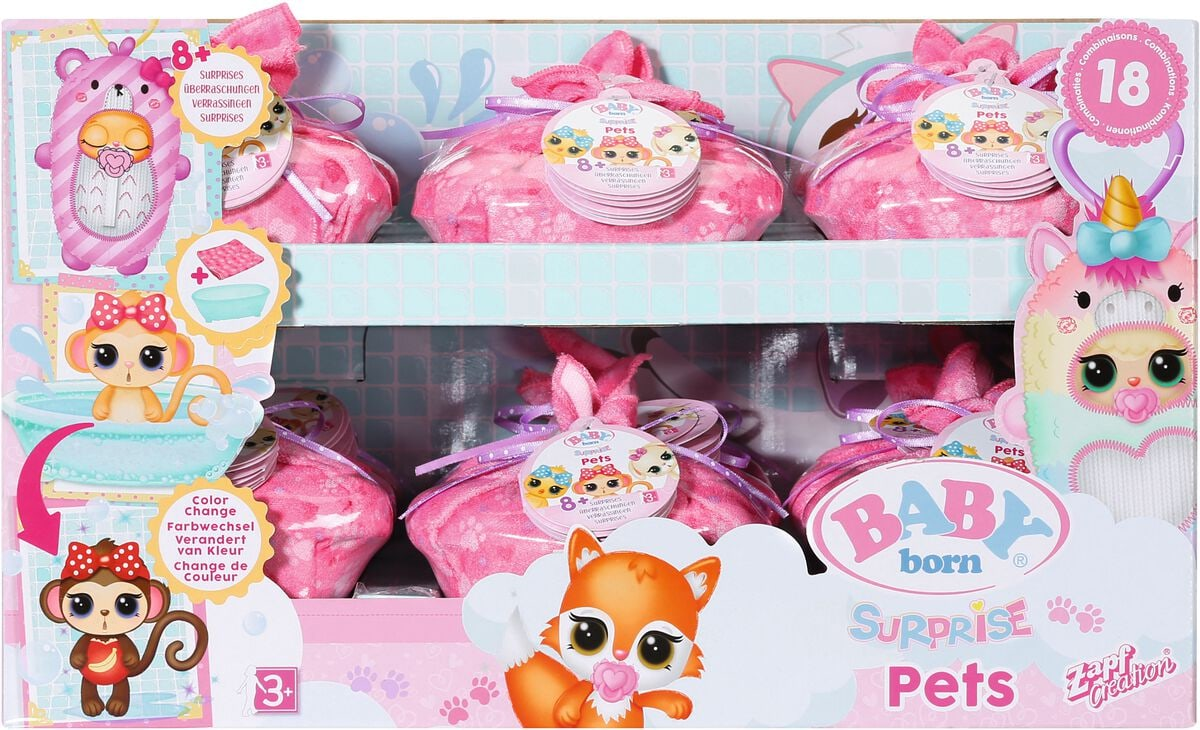 Zapf Creation Baby Born Surprise Pets Bambole