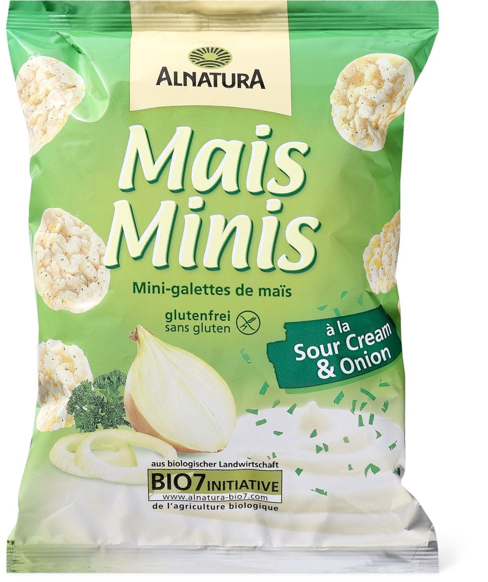 Alnatura mini mais Sour cream & onion
