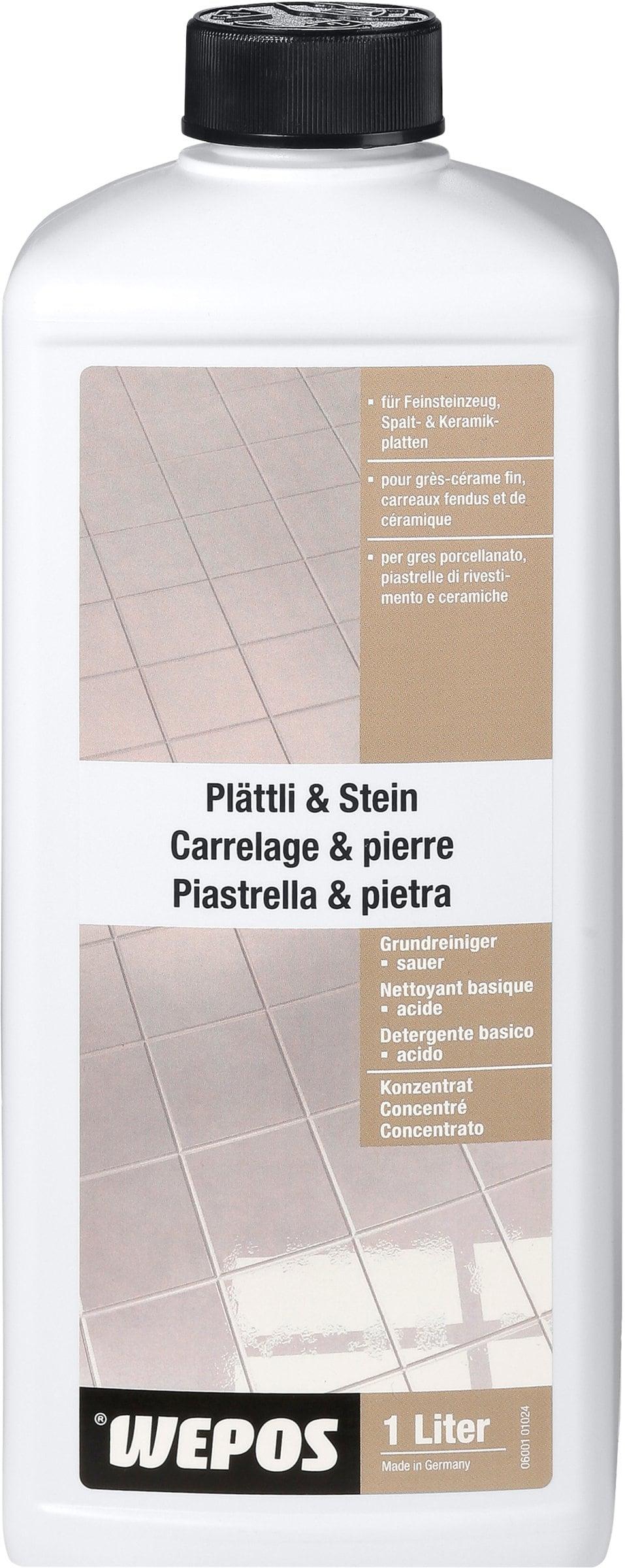 Wepos Detergente di base concentrato per piastrelle e pietra, acido