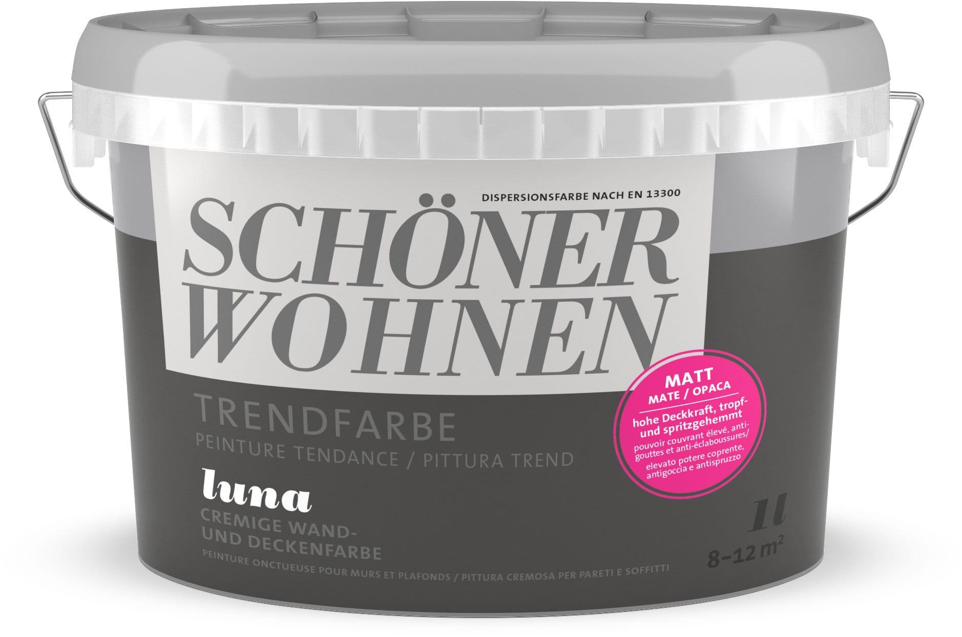 Schöner Wohnen Vernice di tendenza opaca Luna 1 l