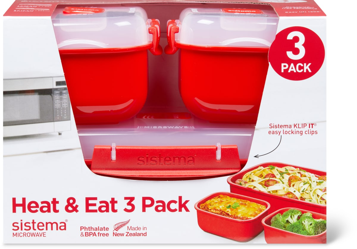 Sistema Microwave Heat & Eat Boxen im 3er-Set, 3er-Set