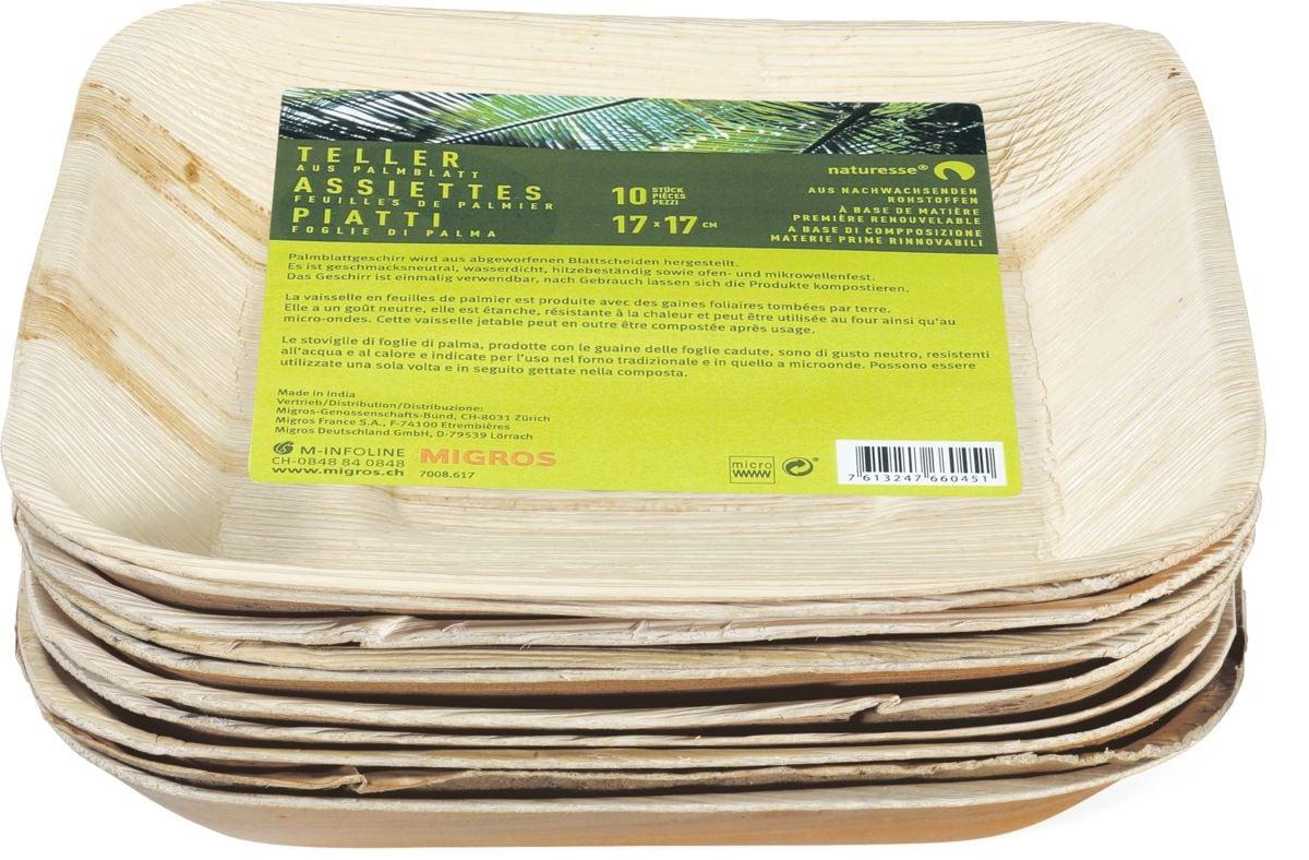 naturesse Assiettes feuilles de palmier NATURESSE