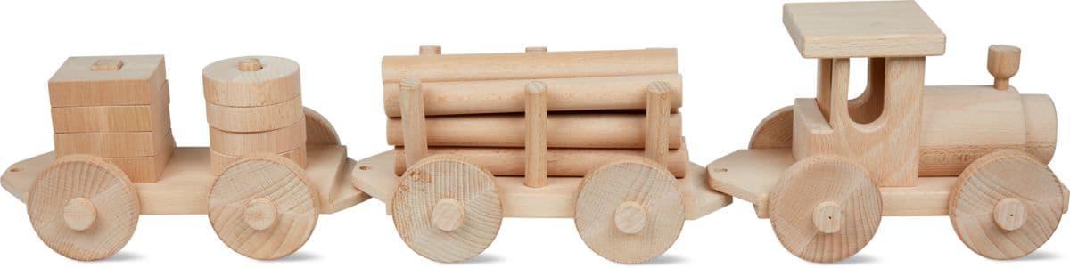 Train en bois naturel FSC