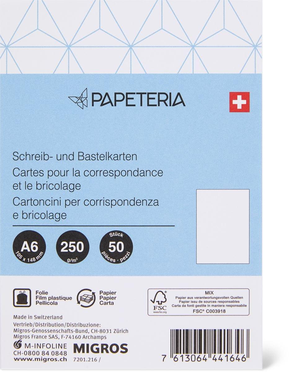 Papeteria A6 Schreib- und Bastelkarten