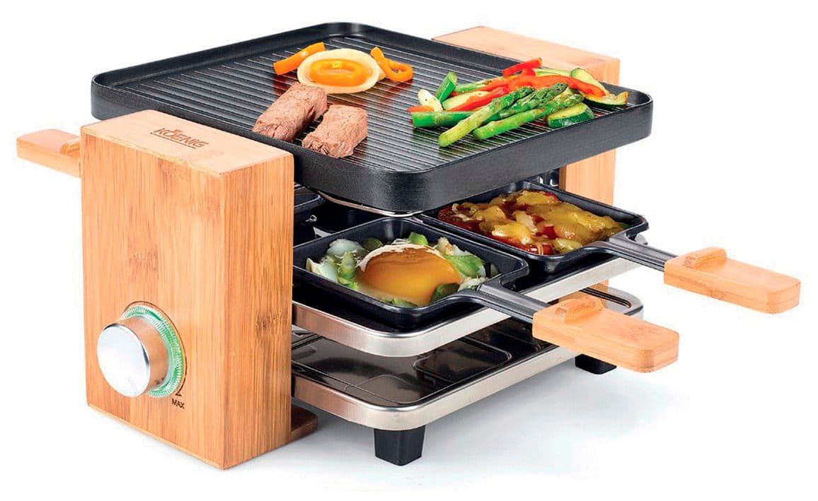 koenig raclette bamboo 4 personen migros. Black Bedroom Furniture Sets. Home Design Ideas