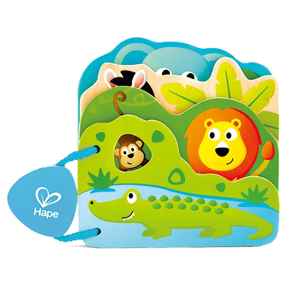 """Hape Baby-Buch """"Tiere Der Wildnis"""" Lernspiel"""