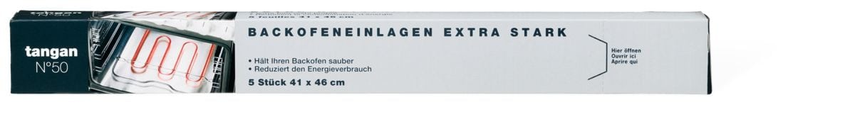 Tangan N°50 Aluminium-Folie Backofeneinlagen