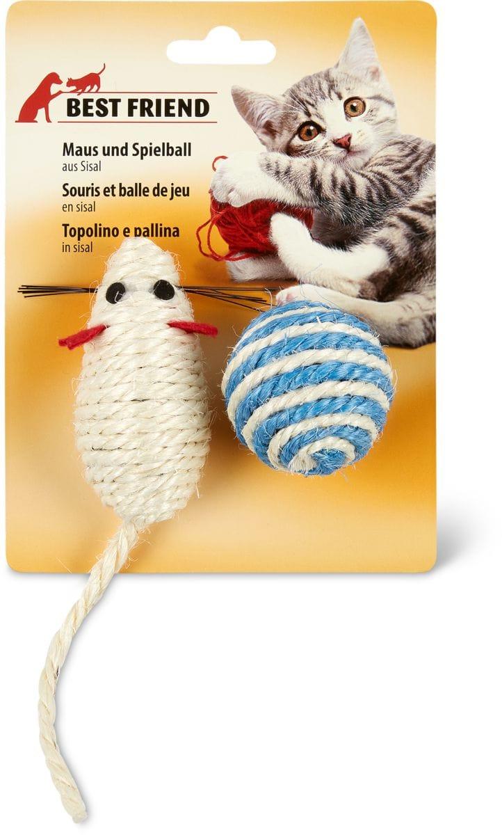Maus & Ball aus Sisal