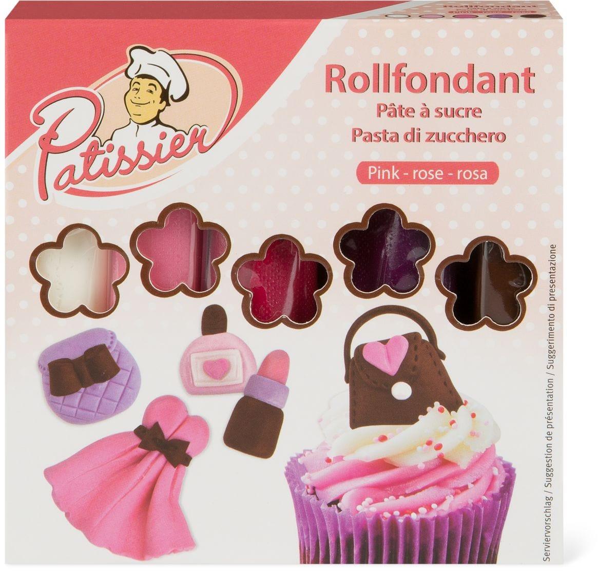 Patissier Pâte à sucre rose