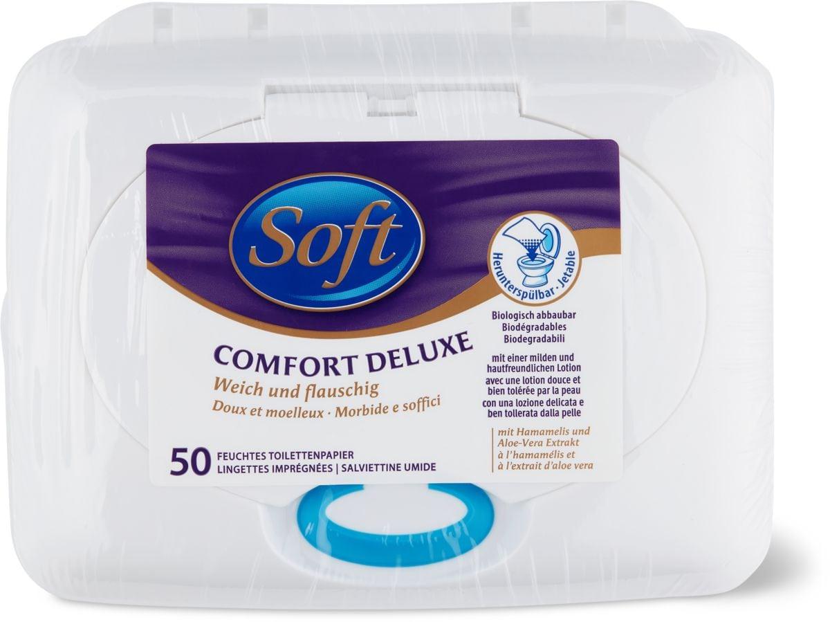 Soft Lingettes imprégnées Comfort Deluxe en boîte