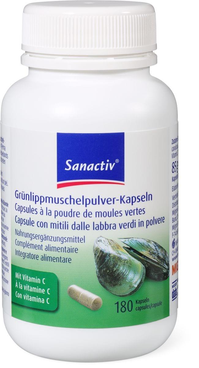 Sanactiv capsules à la poudre de moules vertes