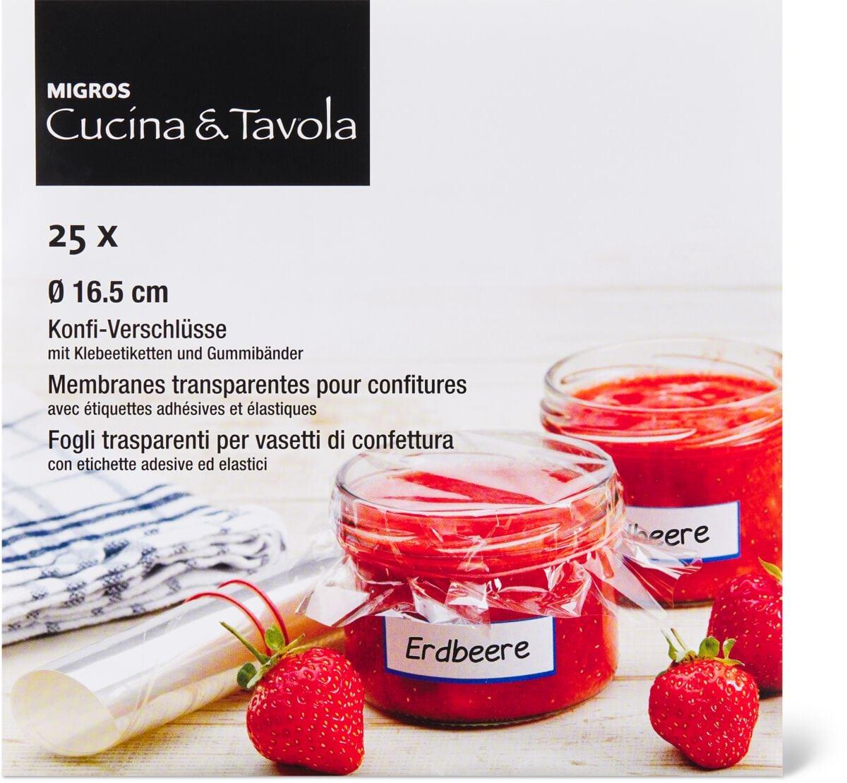 Cucina & Tavola Membranses transparentes pour confitures