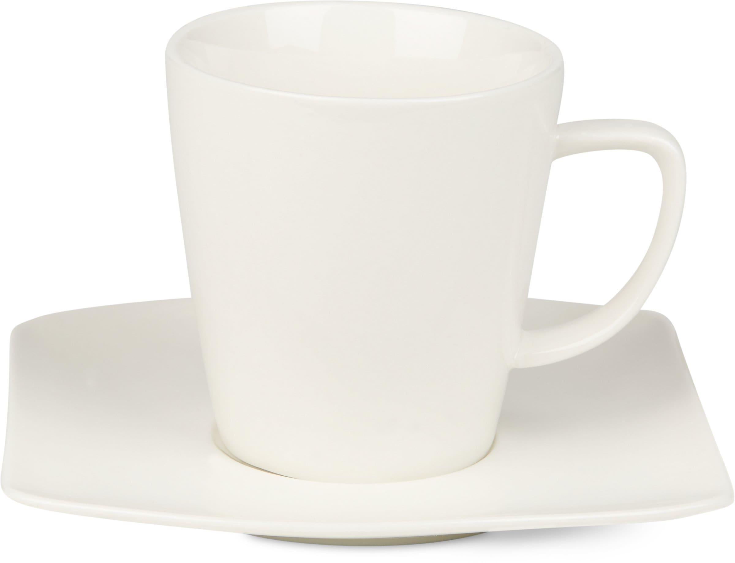 Cucina & Tavola FINE LINE Kaffeetasse mit Unterteller