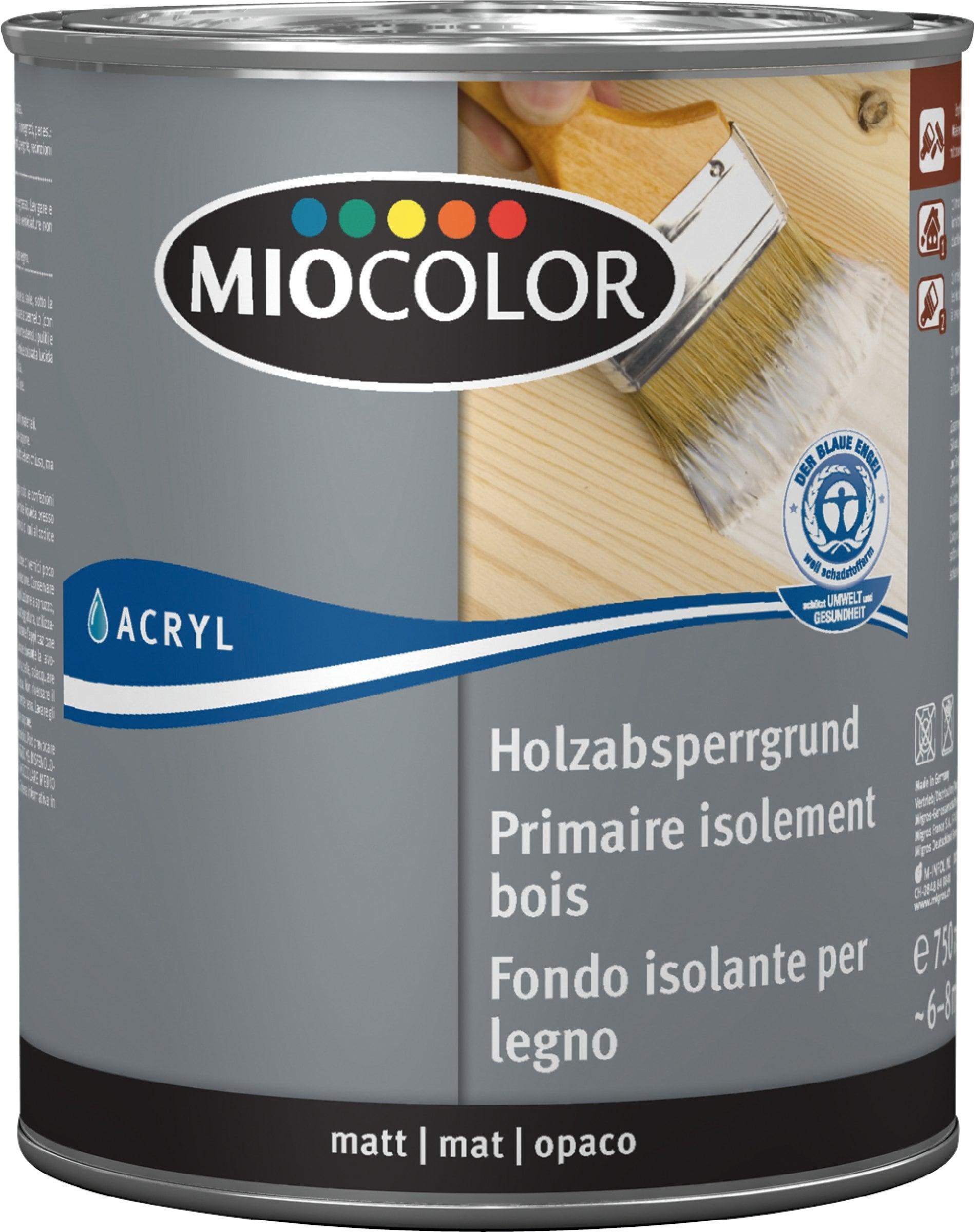 miocolor primaire acrylique isolant pour le bois | migros