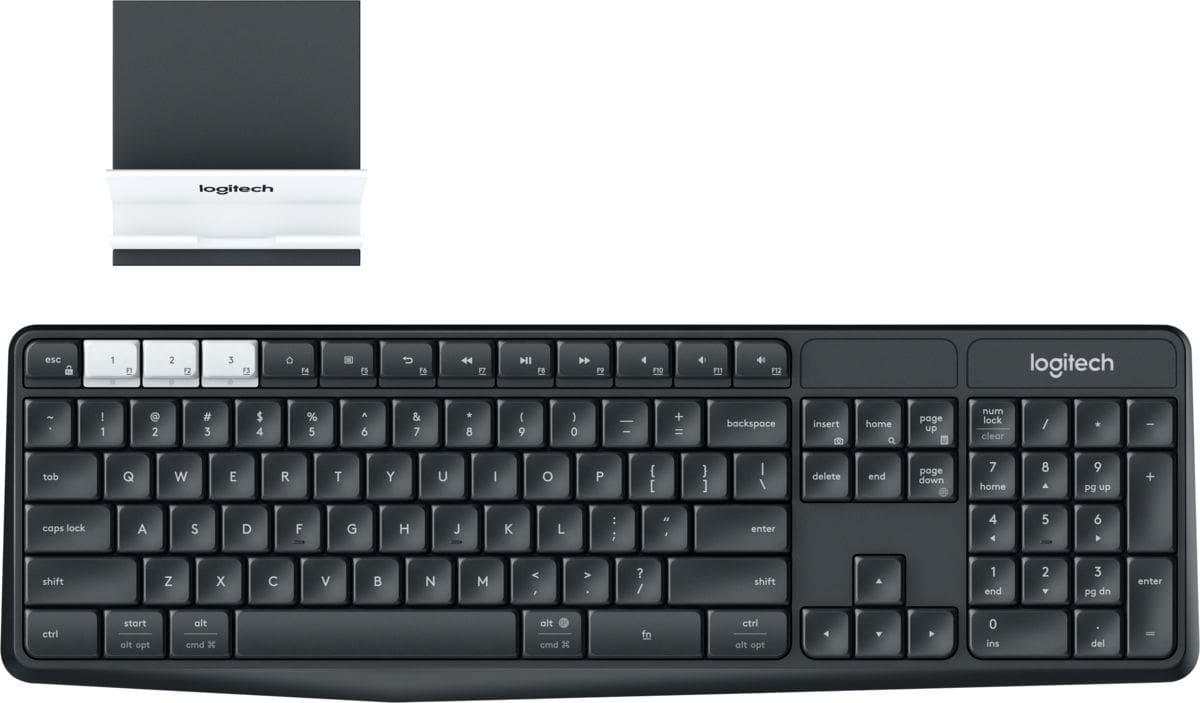 Logitech Bundle tastiera wireless Multi-Device K375s e supporto